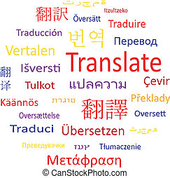 Tag cloud or speech bubble: Translate. - Tag cloud or speech...