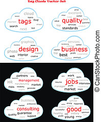 Tag cloud vector set