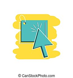 tag commercial with arrow cursor