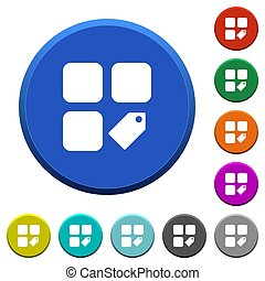Tag component beveled buttons
