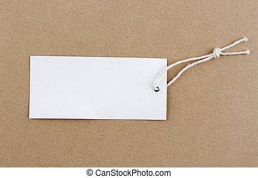 tag, em branco