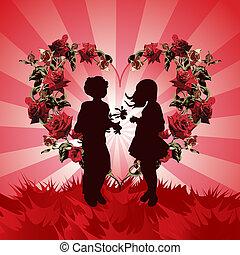 tag, hintergrund, valentines