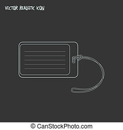 Tag icon line element. illustration of tag icon line isolated on clean background for your web mobile app logo design.