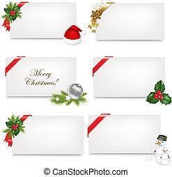 tag, jogo, presente natal, em branco