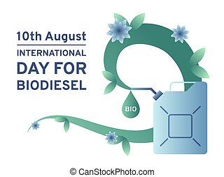 tag, kraftstoff, biodiesel, tank., vektor, umwelt,...
