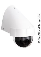 tag, &, nacht, farbe, ip, überwachungskamera, freigestellt,...