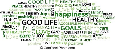 tag, nuvem, bom, palavra, vida, positivity