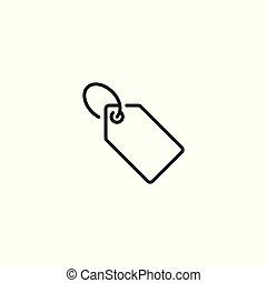 Tag, price label icon