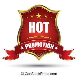 tag, quentes, promoção