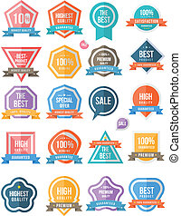 Tag sticker colour set