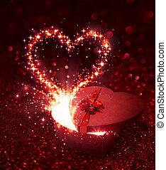 tag valentines, geschenk, -, mit, sparkli
