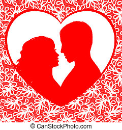 tag valentines, rahmen, herzen