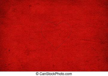 tag valentines, roter hintergrund, mit, herzen