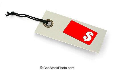 tag venda, com, espaço cópia