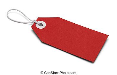 tag vermelho
