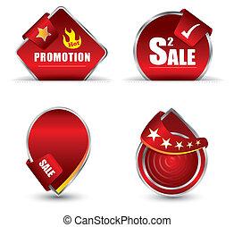 tag vermelho, promoção