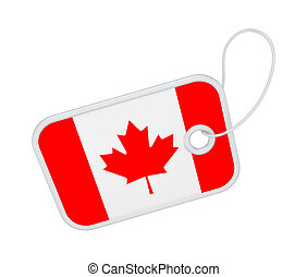 Tag with a flag of Canada.
