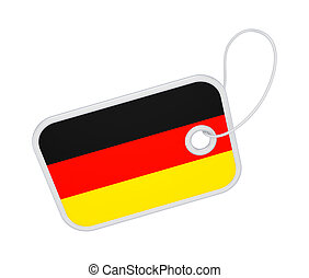Tag with a flag of Germany.