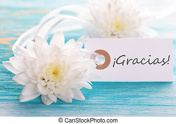Tag with Gracias - Tag with the Spanish Word Gracias which...
