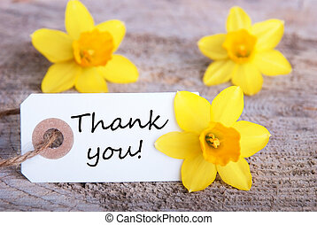 Tag with Thank You