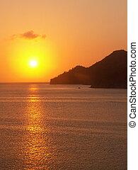 Taganga Sunset Over Sea