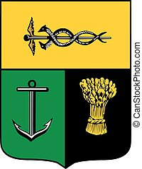 Taganrog city coa - Various vector flags, state symbols,...