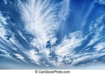 tageszeit, himmelsgewölbe, mit, stratus- wolken