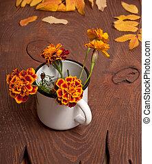 Tagetes flowers bouquet