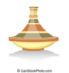 Tagine - Traditional Moroccan tagine. EPS10 vector format.