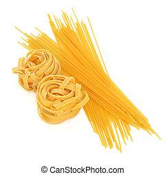 Tagliatelle and Spaghetti Pasta - Tagliatelle and spaghetti ...