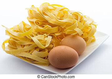 Tagliatelle bolognesi - True tagliatelle from Bologna italy