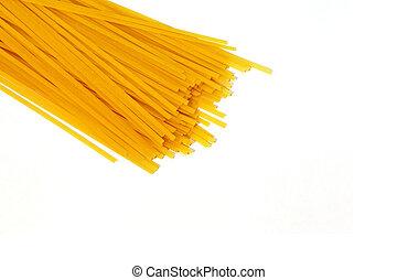 Tagliatelle - Close up shot of yellow tagliatelle pasta