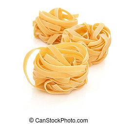 Tagliatelle Pasta - Tagliatelle pasta isolated over white ...