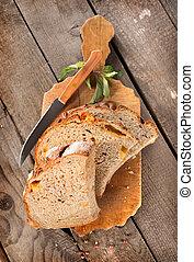 tagliere, coltello, bread