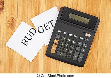 taglio, calcolatore, parola, budget, tuo, taglio, mensile