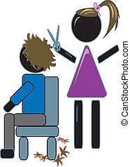 taglio capelli, parrucchiere