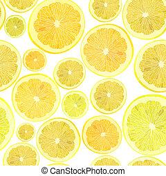 taglio, citrus., attraverso, lotto