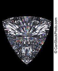 taglio, diamante, trillion