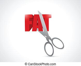 taglio, disegno, grasso, illustrazione