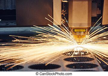 taglio, laser, lavoro metallurgico