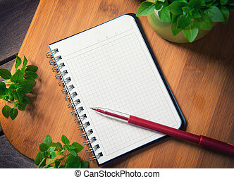 taglio, quaderno, asse, vuoto