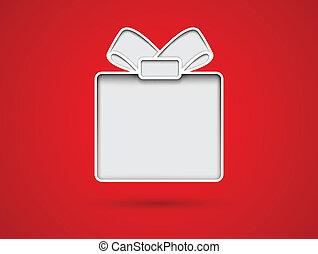 taglio, scheda regalo, fuori