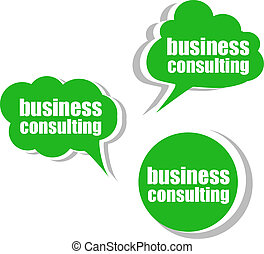 tags., ensemble, business, étiquettes, gabarit, infographics, autocollants, consulting.