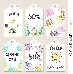 Tags for spring sale