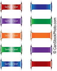 tags., set, colorare, illustrazione, carta, vettore