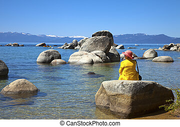tahoe, 湖, california.
