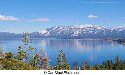 tahoe, See, landschaftsbild
