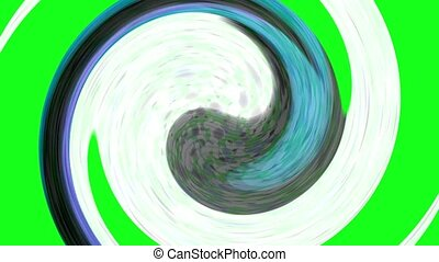 Tai Chi meditation symbol,Chaos world,swirl circle in...