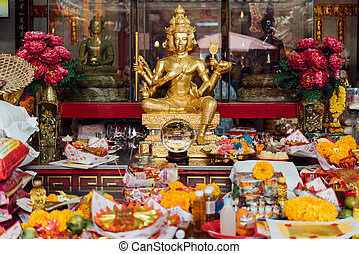 Bangkok, Thailand - August 25, 2019 : Tai Hong Kong on Plab Pla Chai Road. This is where the Por Tek Tueng Foundation began, a charity which takes donations to buy coffins for the poor.