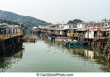 Tai O fishing village stilt houses in Hong Kong